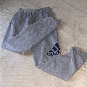 Grey Adidas joggins pants